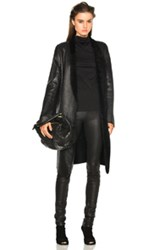 Ann Demeulemeester Shearling Coat In Black