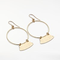 And Or Abstract Open Circle Drop Earrings Gold