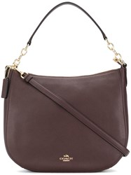 Coach Chelsea Hobo Tote Pink And Purple