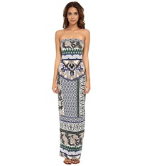 Hale Bob Floral Fusion Tube Maxi Dress Blue Women's Dress