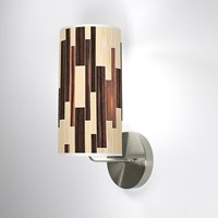 Jefdesigns Tile 2 Wall Sconce Jd_Tile2_Oak Ebony_Soma White Oak And Ebony Brown