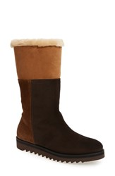 Aquatalia By Marvin K Women's 'Paulina' Waterproof Genuine Shearling Lined Boot Chestnut Combo