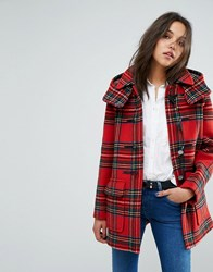 Gloverall Exclusive Check Duffle In Dress Gordan Plaid Multi