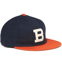 Ebbets Field Flannels Appliqued Wool Flannel Baseball Cap Navy