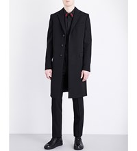 Givenchy Wings Single Breasted Wool Coat Black
