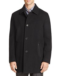 Cole Haan Wool Cashmere Topper Coat Black