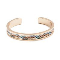 Azuni London Nacona Narrow Bangle In Desert Gold