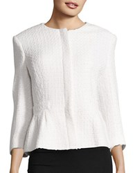Helene Berman Peplum Jacket White