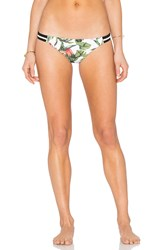 Seafolly Jungle Out There Brazilian Bottom White