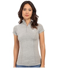 Ariat Odyssey Seamless Short Sleeve Zip Heather Gray Women's Short Sleeve Pullover