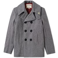 Fidelity Usn Wool Pea Coat Grey