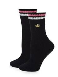 Juicy Couture Two Pack Logo Socks Black
