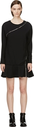 Jay Ahr Black Zip Wrap Phenice Dress