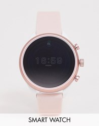Fossil Ftw6022 Sport Silicone Smart Watch 41Mm Pink