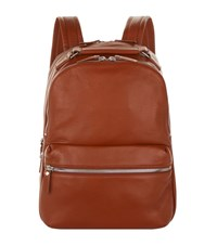 Shinola Runwell Leather Backpack Unisex Cognac