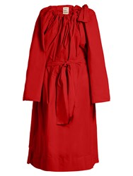 Maison Rabih Kayrouz Tie Neck Gathered Paper Taffeta Dress