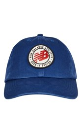 New Balance Badge Washed Curve Cap By Navy Blue