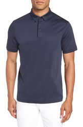 Calibrate Clean Dressy Trim Fit Polo Navy Night