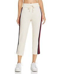Mother Striped Raw Edge Sweatpants Out Of Your League