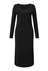 James Lakeland Long Textured Dress Black