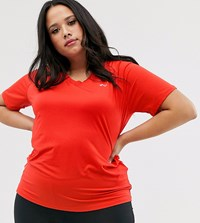Only Play Jodie Curvy Running Top Red