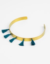 Ileana Makri Summer Titan Choker Necklace Yello Petrol