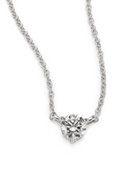 Kwiat Diamond And Platinum Small Solitaire Pendant Necklace