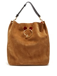 J.W.Anderson Pierce Hobo Large Suede Shoulder Bag Tan