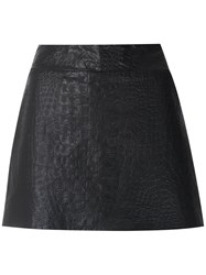 Andrea Bogosian Respect Leather Skorts Black