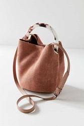 Urban Outfitters Tortoise Ring Handle Bucket Bag Brown
