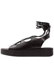 Pieces Pslonnie Platform Sandals Black