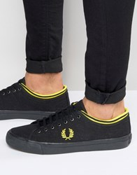 Fred Perry Kendrick Tipped Canvas Trainers Black