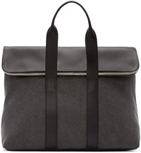 3.1 Phillip Lim Grey Canvas And Leather 31 Hour Tote
