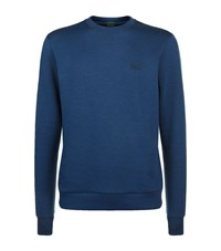Hugo Boss Green Crew Neck Jumper Male Blue