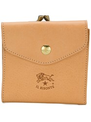 Il Bisonte Triple Fold Wallet Nude And Neutrals