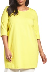 Eileen Fisher Plus Size Women's Stretch Organic Cotton Jersey Tunic Yarrow