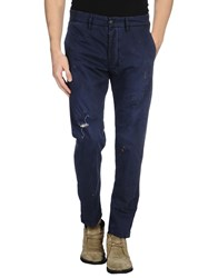 People Trousers Casual Trousers Men Dark Blue
