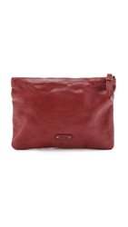 Frye Artisan Pouch Burnt Red