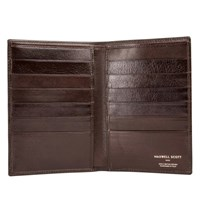 Maxwell Scott Bags Brown Leather Jacket Wallet Pianillo