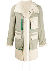 Yves Salomon Reversible Colour Block Jacket 60