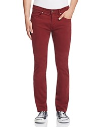 Paige Federal Slim Fit Jeans In Desert Taupe Dark Burgundy