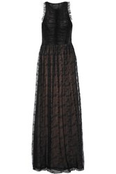 Jason Wu Ruched Lace Maxi Dress Black