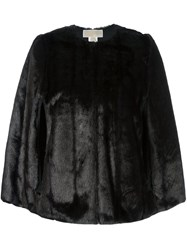 Michael Michael Kors Reversible Faux Fur Cape Black