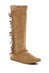 Ugg R Australia Mammoth Water Resistant Knee High Fringe Genuine Shearling Boot Beige