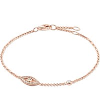 Thomas Sabo Fatima's Garden Rose Gold Plated And Zirconia Pave Bracelet