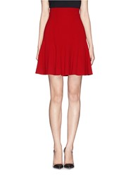 Dolce And Gabbana Flare High Waist Cady Skirt Red