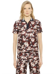 Mother Of Pearl Javel Floral Cotton And Silk Polo Shirt