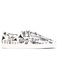 Dolce And Gabbana Musical Instrument Sneakers Men Cotton Rubber 40 White