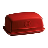 Emile Henry Kitchen Tools Ceramic Butter Dish Red