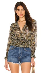 Blue Life Cora Top In Blue. Navy Paisley